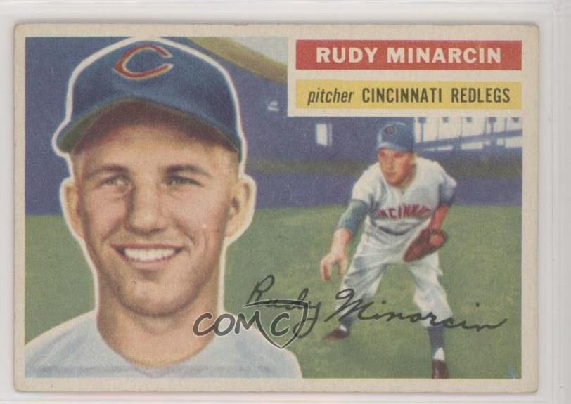 Details About 1956 Topps 362 Rudy Minarcin White Back Cincinnati Reds Baseball Card