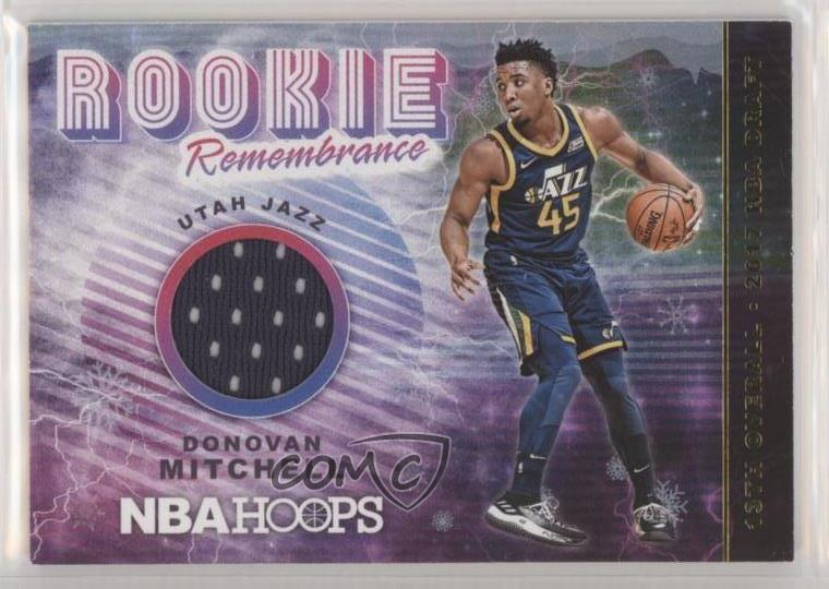 45519360522b0 Details about 2018-19 Panini NBA Hoops Rookie Remembrance Winter #RR-DM  Donovan Mitchell Card