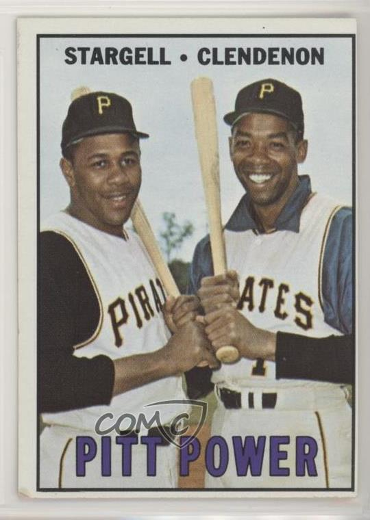 Details About 1967 Topps 266 Willie Stargell Donn Clendenon Pittsburgh Pirates Baseball Card