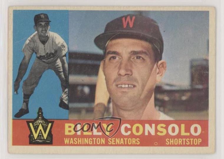 1960 Topps # 508 Billy Consolo Ex-mt Sports Mem, Cards & Fan Shop