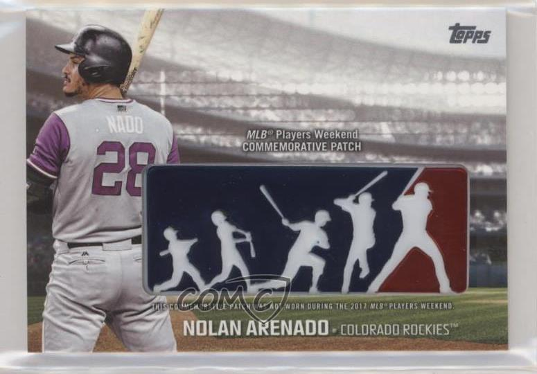 6720adea9f7 2018 Topps - Players Weekend Patch  PWP-NA Nolan Arenado. Representative  Image - Select Specific Item above to see image of actual item