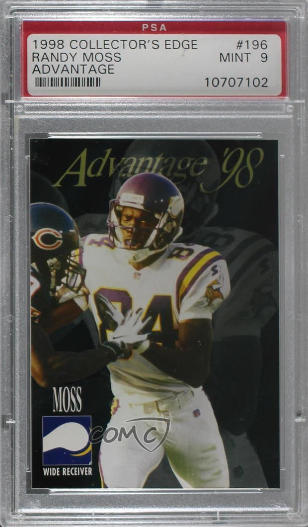 196 Randy Moss. Representative Image - Select Specific Item above to see  image of actual item fce375516