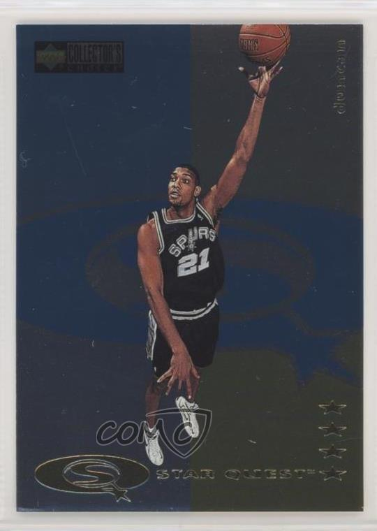 Details About 1997 98 Upper Deck Collectors Choice Star Quest Sq172 Tim Duncan Rookie Card