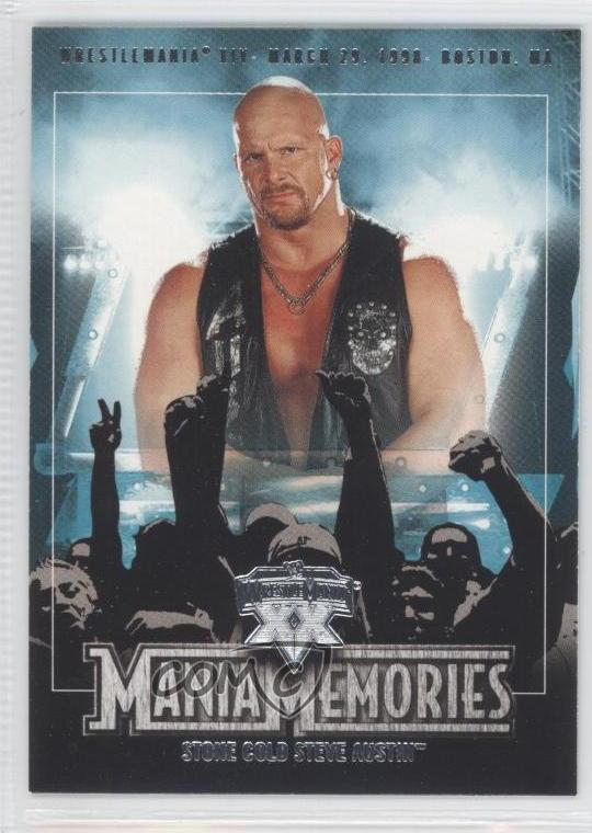 Details About 2004 Fleer Wwe Wrestlemania Xx 79 Steve Austin Stone Cold Rookie Wrestling Card