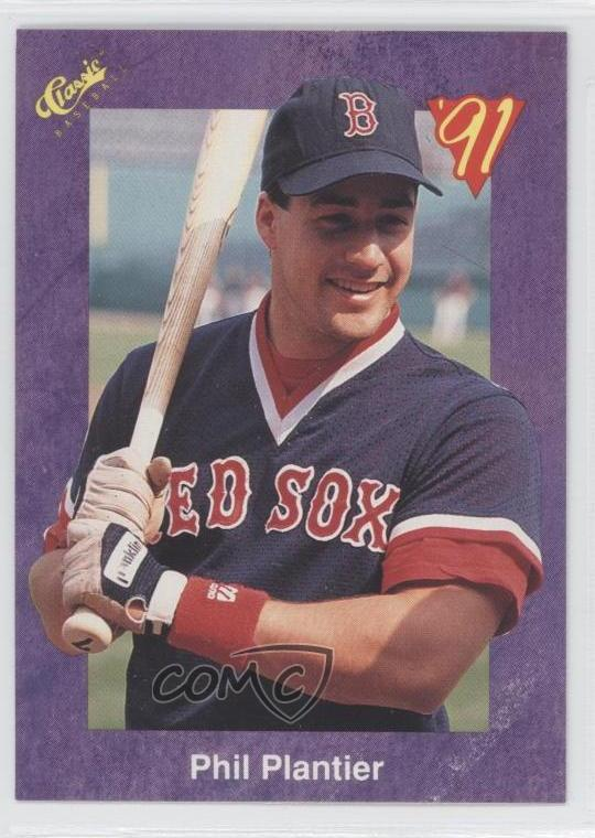 Details About 1991 Classic 128 Phil Plantier Boston Red Sox Rookie Baseball Card