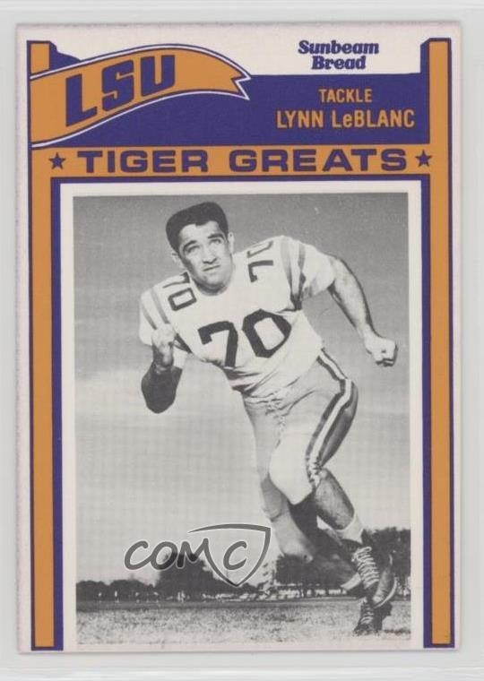 Details about 1983 Sunbeam Bread LSU Tiger Greats #41 Lynn LeBlanc Rookie  Football Card