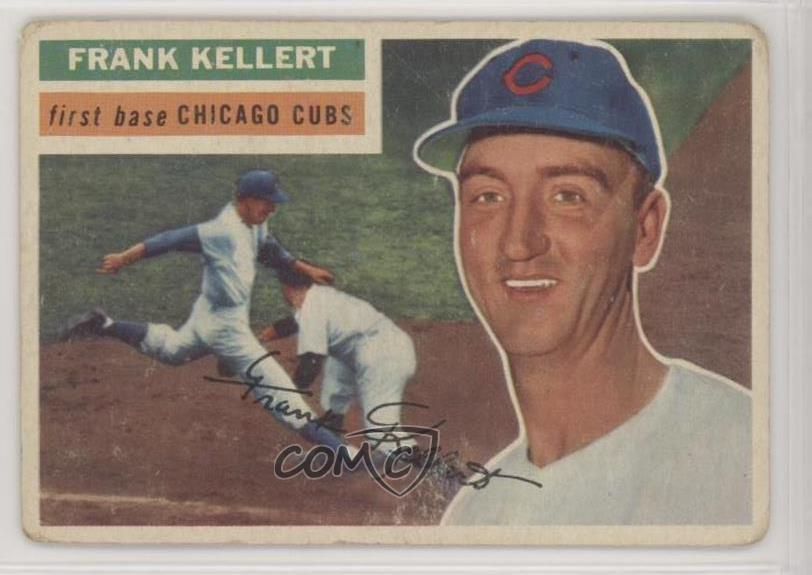 Details About 1956 Topps 291 Frank Kellert Chicago Cubs Rc Rookie Baseball Card