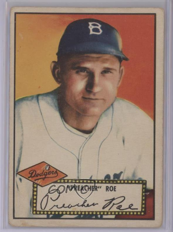 Details About 1952 Topps 661 Preacher Roe Red Back Brooklyn Dodgers Baseball Card