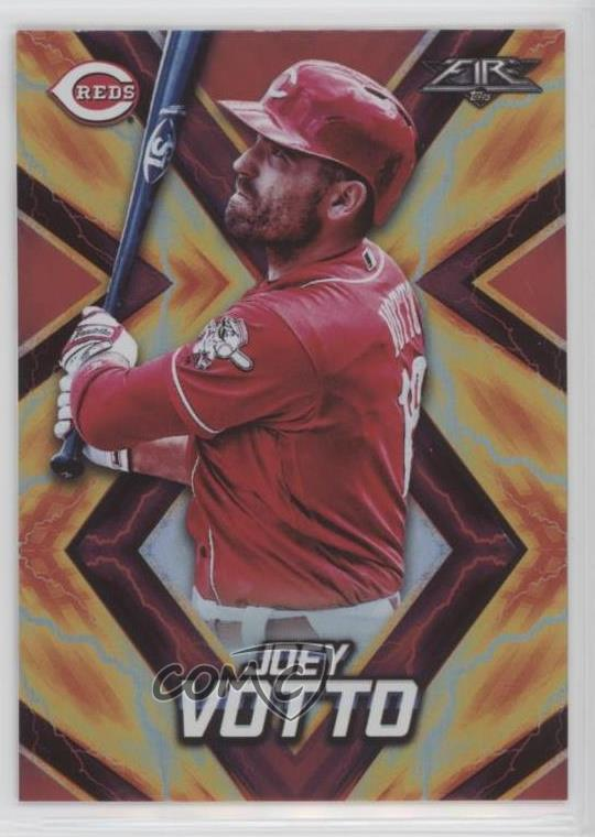 Details About 2017 Topps Fire Red Flame 149 Joey Votto Cincinnati Reds Baseball Card