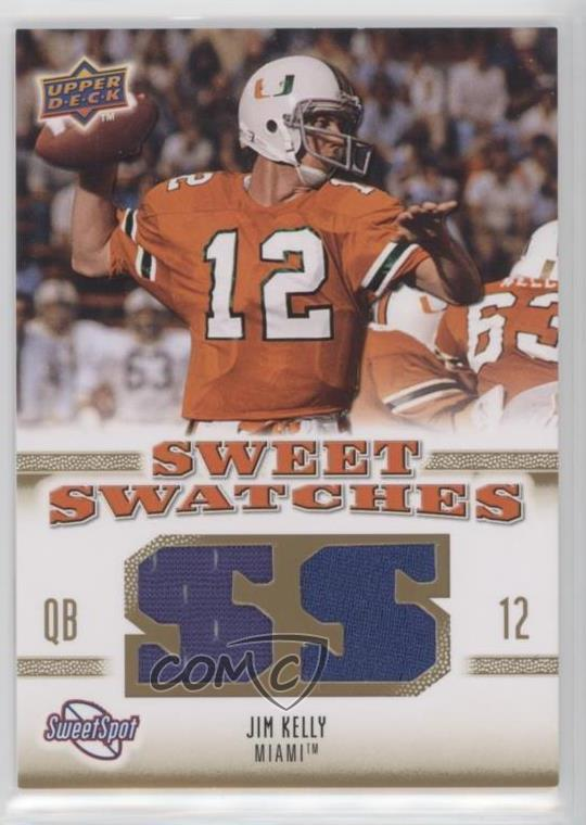 the latest 160c6 01d98 Details about 2010 NCAA Sweet Spot Swatches #SSW-38 Jim Kelly Miami  Hurricanes Football Card