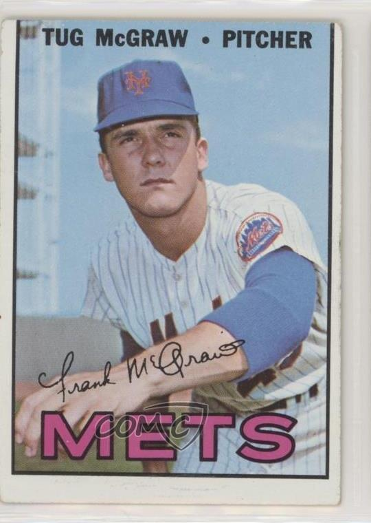 Details About 1967 Topps 348 Tug Mcgraw New York Mets Baseball Card