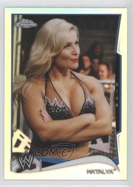 2014 Topps Chrome WWE #82 Natalya Rookie Wrestling Card