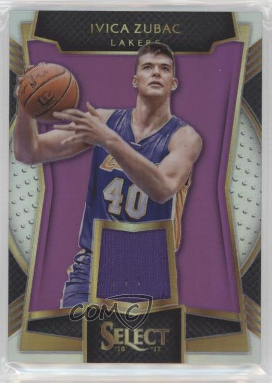 2016-17 Panini Select - Rookie Swatches - Purple Prizm  18 Ivica Zubac.  Representative Image - Select Specific Item above to see image of actual  item 5c83e4eae
