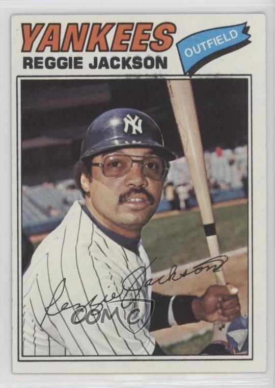 Details About 1977 Topps Burger King New York Yankees 17 Reggie Jackson Baseball Card