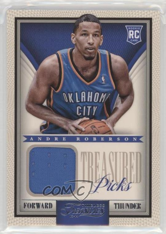 size 40 8ea1a 28104 Details about 2013 Panini Timeless Treasures Treasured Picks Jerseys #10  Andre Roberson Rookie