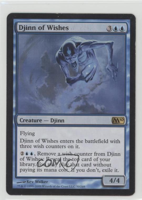 4x FOIL Djinn of Wishes Near Mint Magic blue flying Core Set 2019 M19 x4