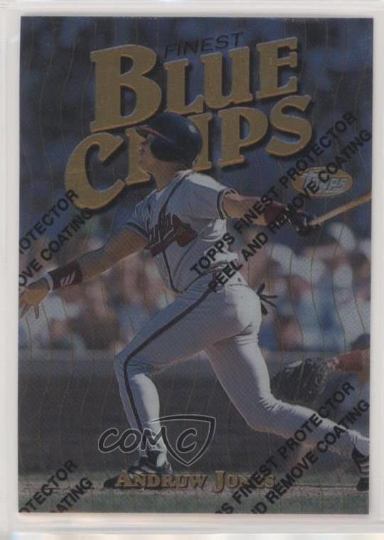 Details About 1997 Topps Finest 162 Andruw Jones Atlanta Braves Baseball Card