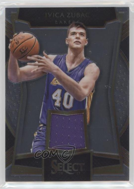 2016-17 Panini Select - Rookie Swatches  18 Ivica Zubac. Representative  Image - Select Specific Item above to see image of actual item 92d6d5b2e