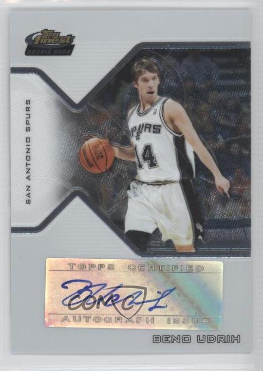 2004-05 Topps Chrome Refractor #193 Beno Udrih San Antonio Spurs Basketball Card Verzamelkaarten, ruilkaarten