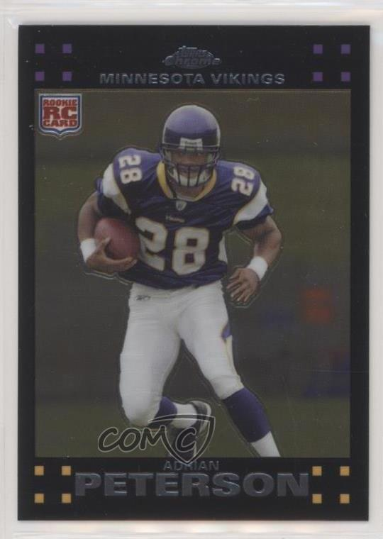 Details About 2007 Topps Chrome Tc181 Adrian Peterson Minnesota Vikings Rc Football Card