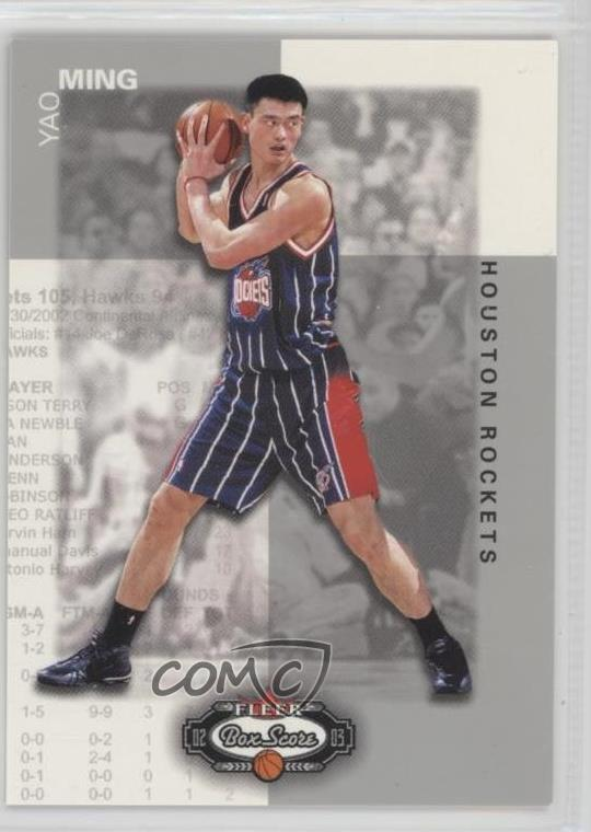 a8d1a508744ea Details about 2002-03 Fleer Box Score/1999 #136 Yao Ming Houston Rockets RC  Rookie Card