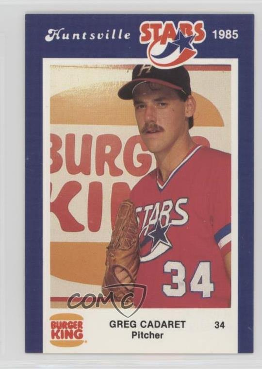 Details About 1985 Burger King Huntsville Stars 34 Greg Cadaret Rookie Baseball Card