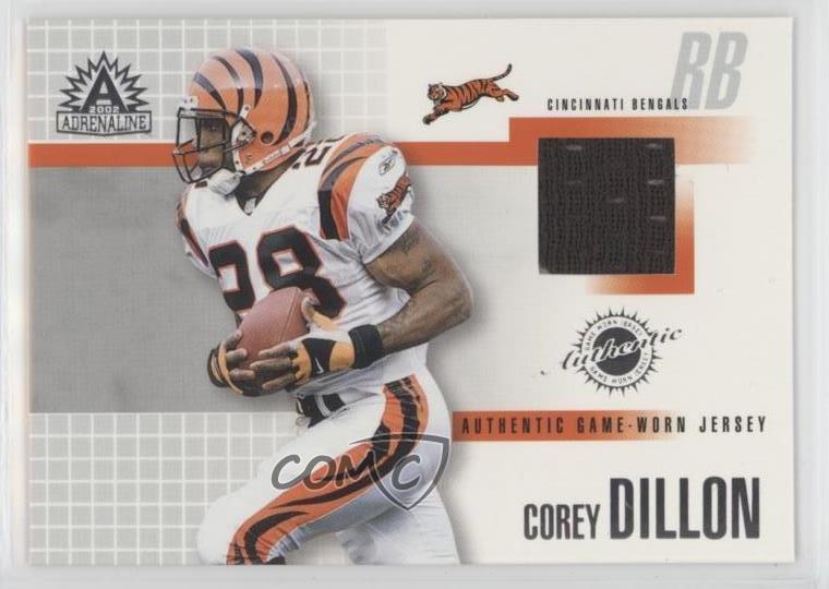 602e7654 Details about 2002 Pacific Adrenaline Game-Worn Jerseys #8 Corey Dillon  Cincinnati Bengals