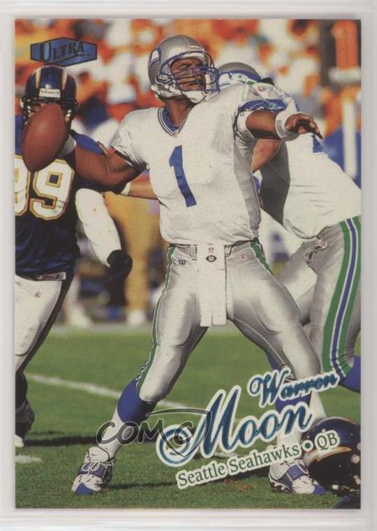 Warren Moon Seahawks Card