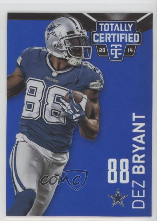 best service 28b76 338dc Details about 2014 Panini Totally Certified Mirror Platinum Blue/10 #26 Dez  Bryant Card
