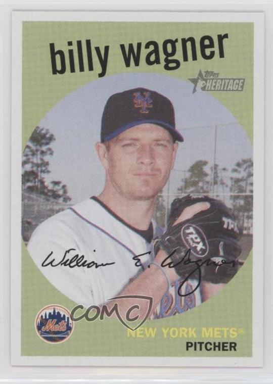 Details About 2008 Topps Heritage 13 Billy Wagner New York Mets Baseball Card