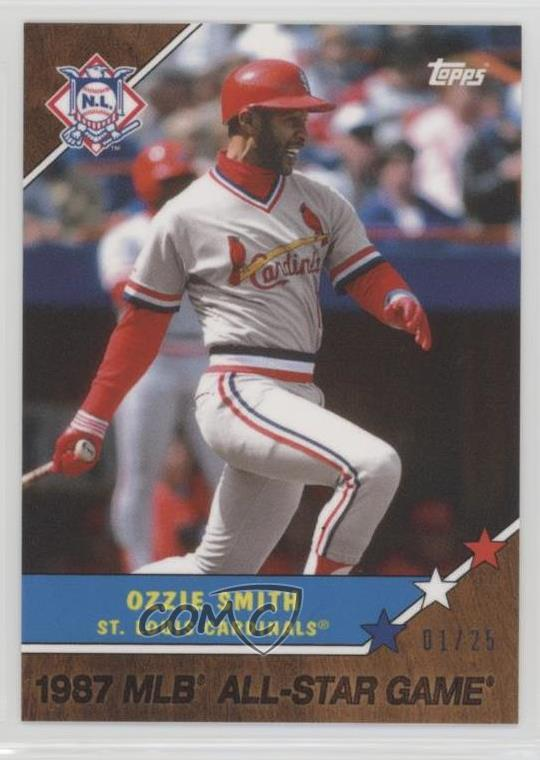 Details About 2017 Topps On Demand Online Exclusive Walnut25 25w Ozzie Smith Baseball Card