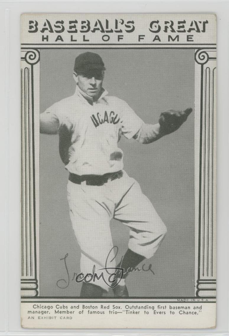 Details About 1948 Exhibits Baseballs Great Hall Of Fame Frank Chance Chicago Cubs Card