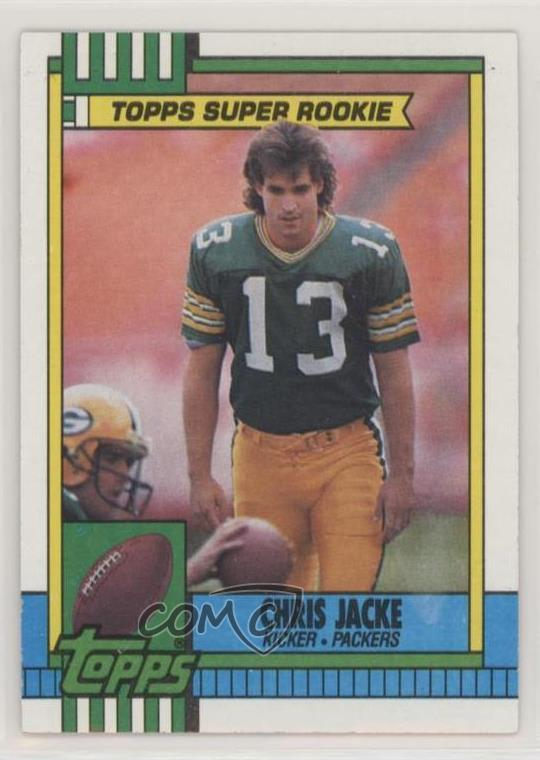 cheaper 7755f 6fb7d Details about 1990 Topps #146 Chris Jacke Green Bay Packers Football Card