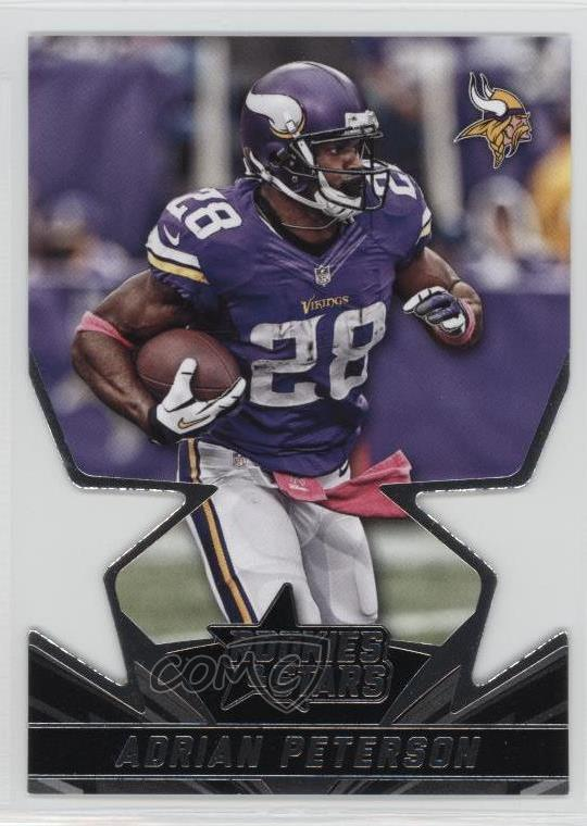 Details About 2015 Panini Rookies Stars Star Studded Die Cuts Ss24 Adrian Peterson Card