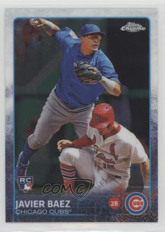 Details About 2015 Topps Chrome 89 Javier Baez Chicago Cubs Rc Rookie Baseball Card