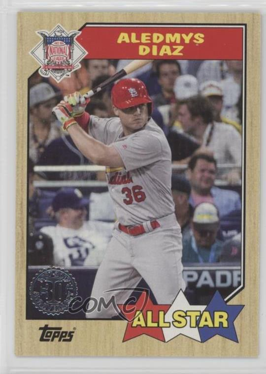 Details About 2017 Topps 1987 Design 87 181 Aledmys Diaz St Louis Cardinals Baseball Card