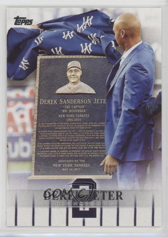 2018 Topps Target Derek Jeter Highlights  DJH-22 Baseball Card - Yankees  Jersey Number 79335517fd4