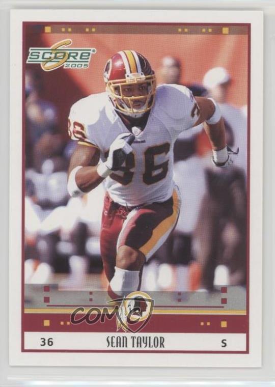 sale retailer 1df2d d5f97 Details about 2005 Score #300 Sean Taylor Washington Redskins Football Card
