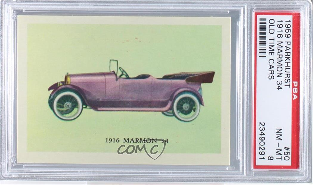 1959 Parkhurst Old Time Cars #50 1916 Marmon 34 PSA 8 NM-MT Non ...