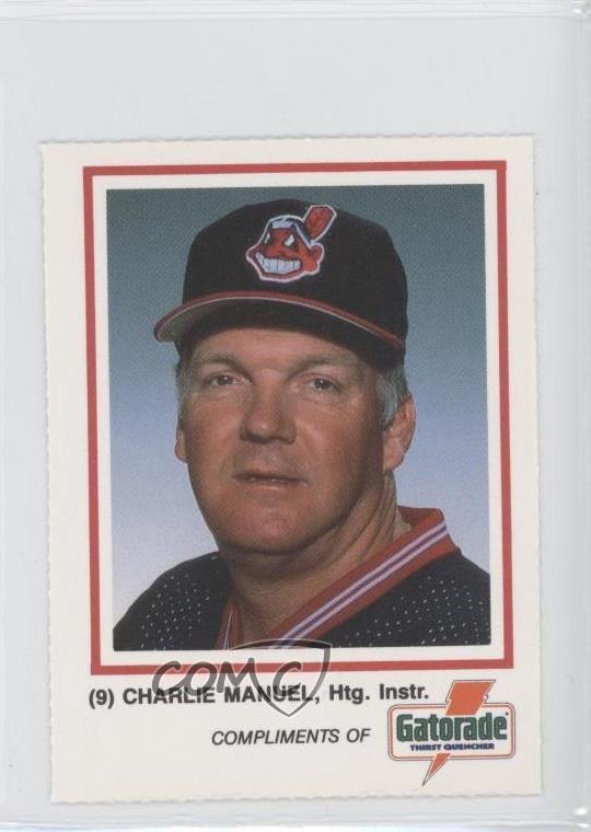 Details About 1988 Gatorade Cleveland Indians 9 Charlie Manuel Baseball Card