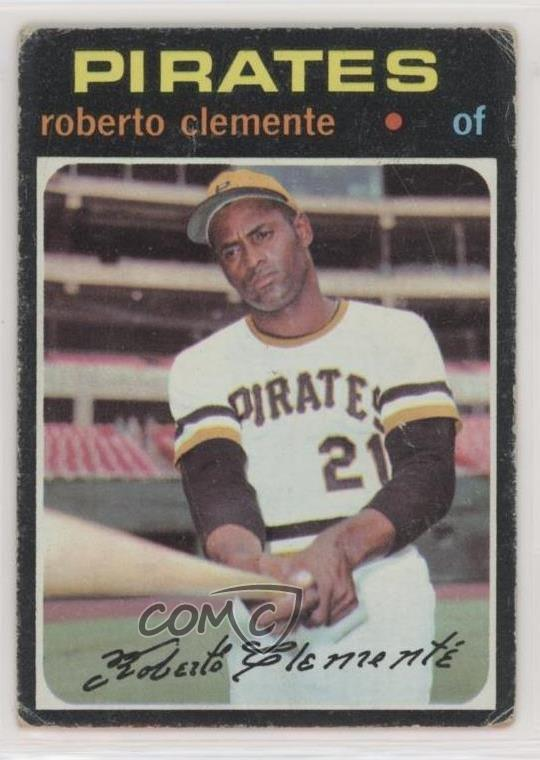 Details About 1971 Topps 630 Roberto Clemente Pittsburgh Pirates Baseball Card