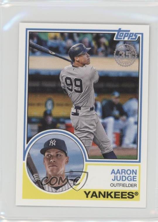 Details About 2018 Topps Mini 1983 Design 83 24 Aaron Judge New York Yankees Baseball Card