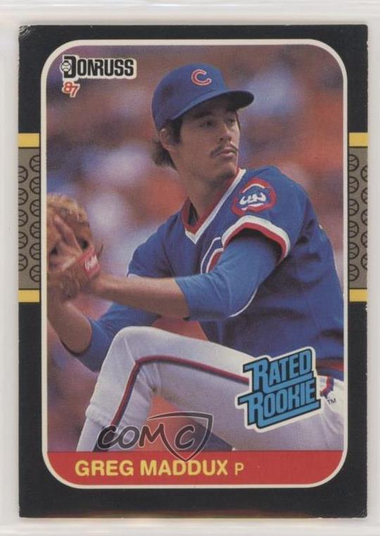 Details About 1987 Donruss 36 Greg Maddux Chicago Cubs Rc Rookie Baseball Card