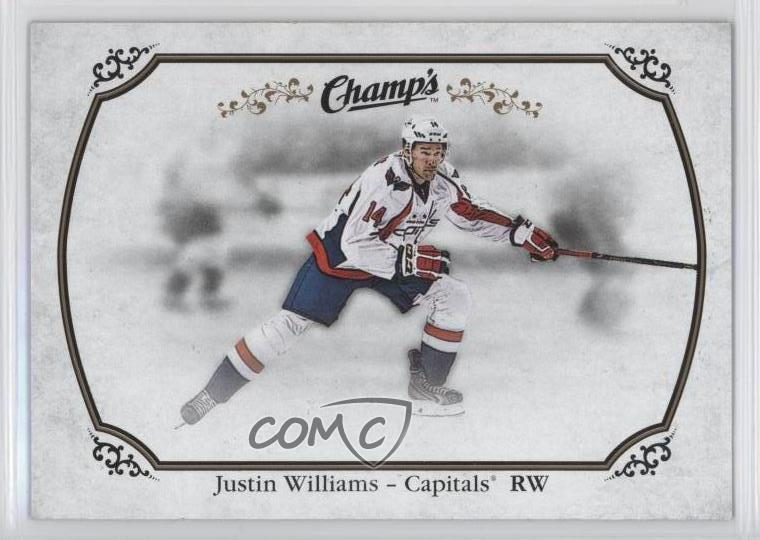 2015-16 Upper Deck Champs -  Base   43 Justin Williams. Representative  Image - Select Specific Item above to see image of actual item 76b858b99588