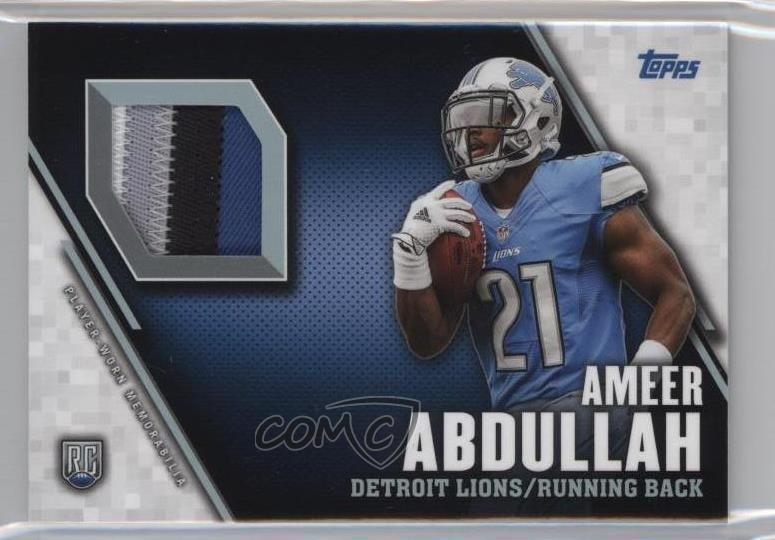 3b10d18c Details about 2015 Topps Rookie Patch #TRP-AA Ameer Abdullah Detroit Lions  Football Card