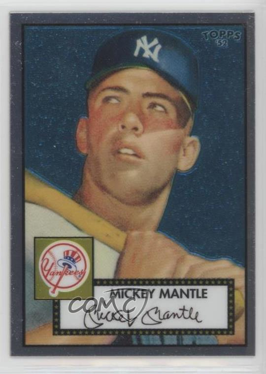 Details About 2006 Topps 52 Chrome Rookie Cards1952 Tcrc7 Mickey Mantle New York Yankees