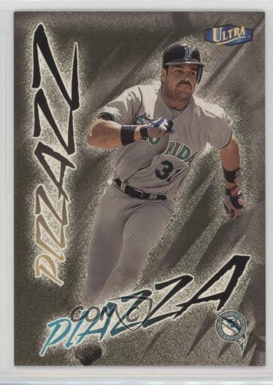 Details About 1998 Ultra Gold Medallion Edition 485g Mike Piazza Miami Marlins Baseball Card