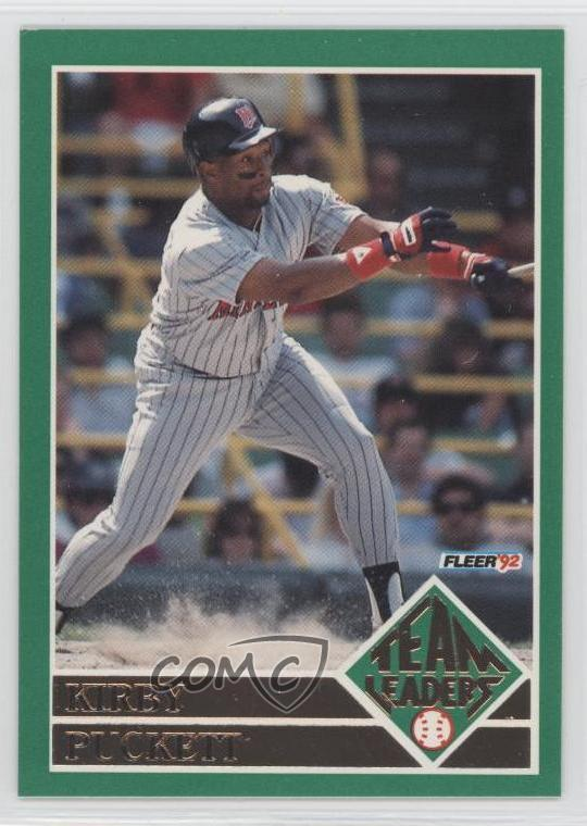 07d4b4aaf1 1992 Fleer - Team Leaders #5 Kirby Puckett. Representative Image - Select  Specific Item above to see image of actual item