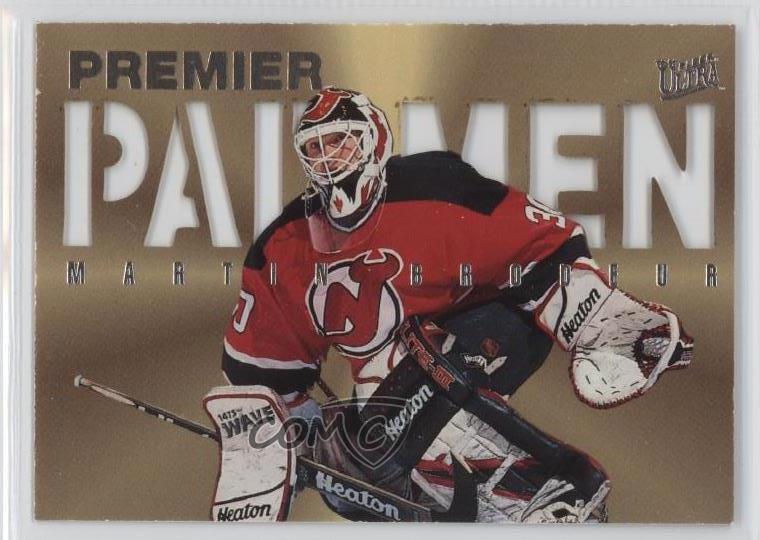 1995 96 Fleer Ultra Pad Men 2 Martin Brodeur New Jersey Devils