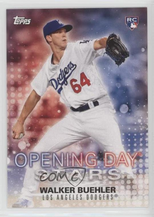 abb45319 2018 Topps Opening Day - Opening Day Stars #ODS-WB Walker Buehler.  Representative Image - Select Specific Item above to see image of actual  item